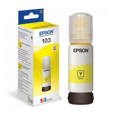 Чернила Epson 103 EcoTank Yellow 65ml C13T00S44A Original