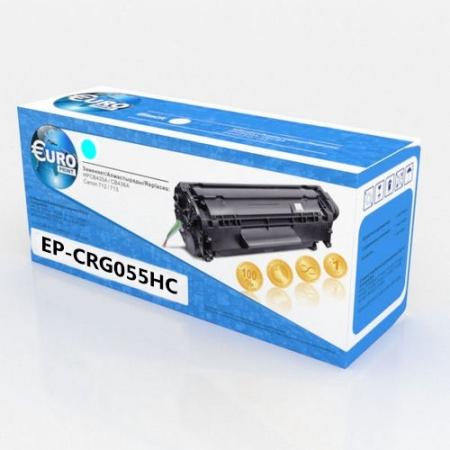 Картридж Canon 055H (без чипа) Cyan (5,9K) Euro Print