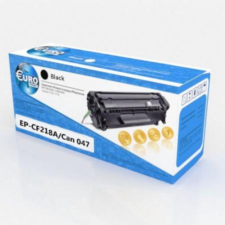 Картридж HP CF218A/Canon 047 (без чипа) Euro Print