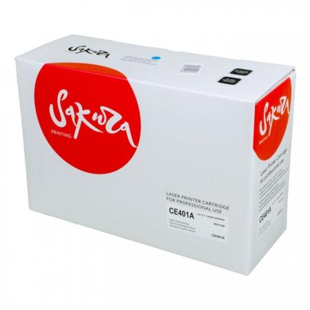 Картридж HP CE401A (507A) Cyan Sakura