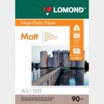Фотобумага A3/090грамм/100листов/матовая 1-сторон.(0102011) LOMOND