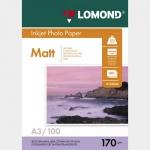 Фотобумага A3/170грамм/100листов/матовая 2-сторон.(0102012) LOMOND