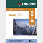 Фотобумага A4/180грамм/50листов/матовая 1-сторон.(0102014) LOMOND