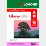 Фотобумага A4/150грамм/50листов/глянцевая 1-сторон.(0102018) LOMOND