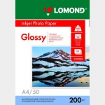 Фотобумага A4/200грамм/50листов/глянцевая 1-сторон.(0102020) LOMOND