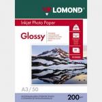 Фотобумага A3/200грамм/50листов/глянцевая 1-сторон.(0102024) LOMOND