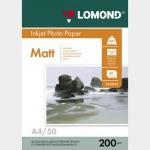 Фотобумага A4/200грамм/50листов/матовая 2-сторон.(0102033) LOMOND