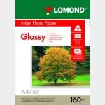 Фотобумага A4/160грамм/50листов/глянцевая 1-сторон.(0102055) LOMOND