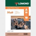 Фотобумага A3/230грамм/50листов/матовая 1-сторон.(0102156) LOMOND