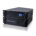 """EH 5116/5006 MUST 19"""" rack on-line UPS 6000VA LCD RS232 RJ45 battery 12V7AH*16"""